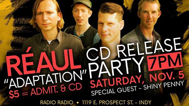 """""""Adaptation"""", our brand NEW album drops at our cd release party on Nov. 5th @ Radio Radio in Indy. Trust us, this will be a show to remember...so be there!  #newmusic #producerlife #producer #songwriter #songwriting #cd #cdrelease #party #free #music #concert #show"""
