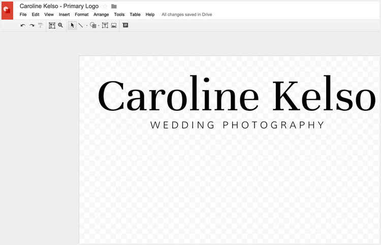 It's starting to look like a logo, and you haven't used Photoshop at all!