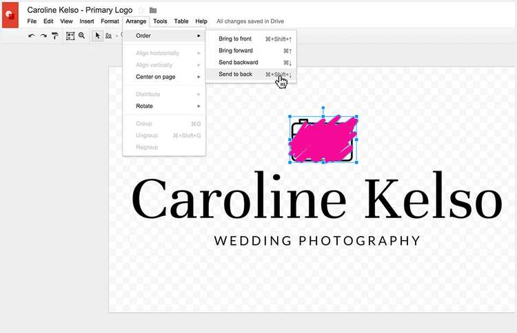 Arranging your logo to look good