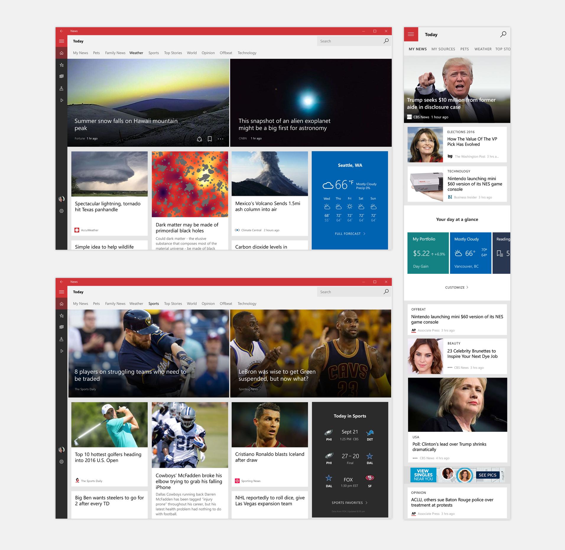 Microsoft News App — FE NAKAZA   PRODUCT DESIGNER