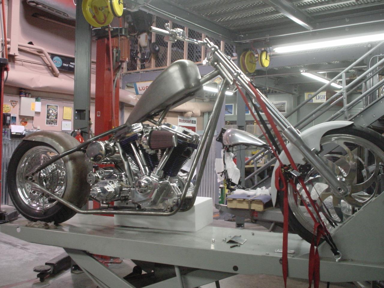 HD Custom Harley built for HK customer