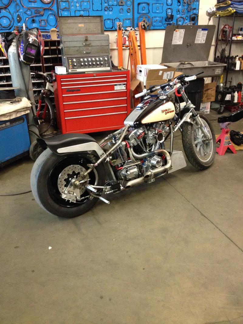 KCM Shovelhead Drag Bike