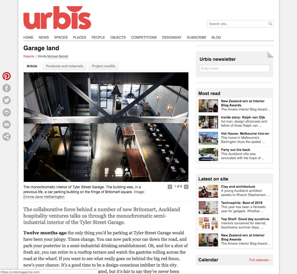 Urbis - Garage land