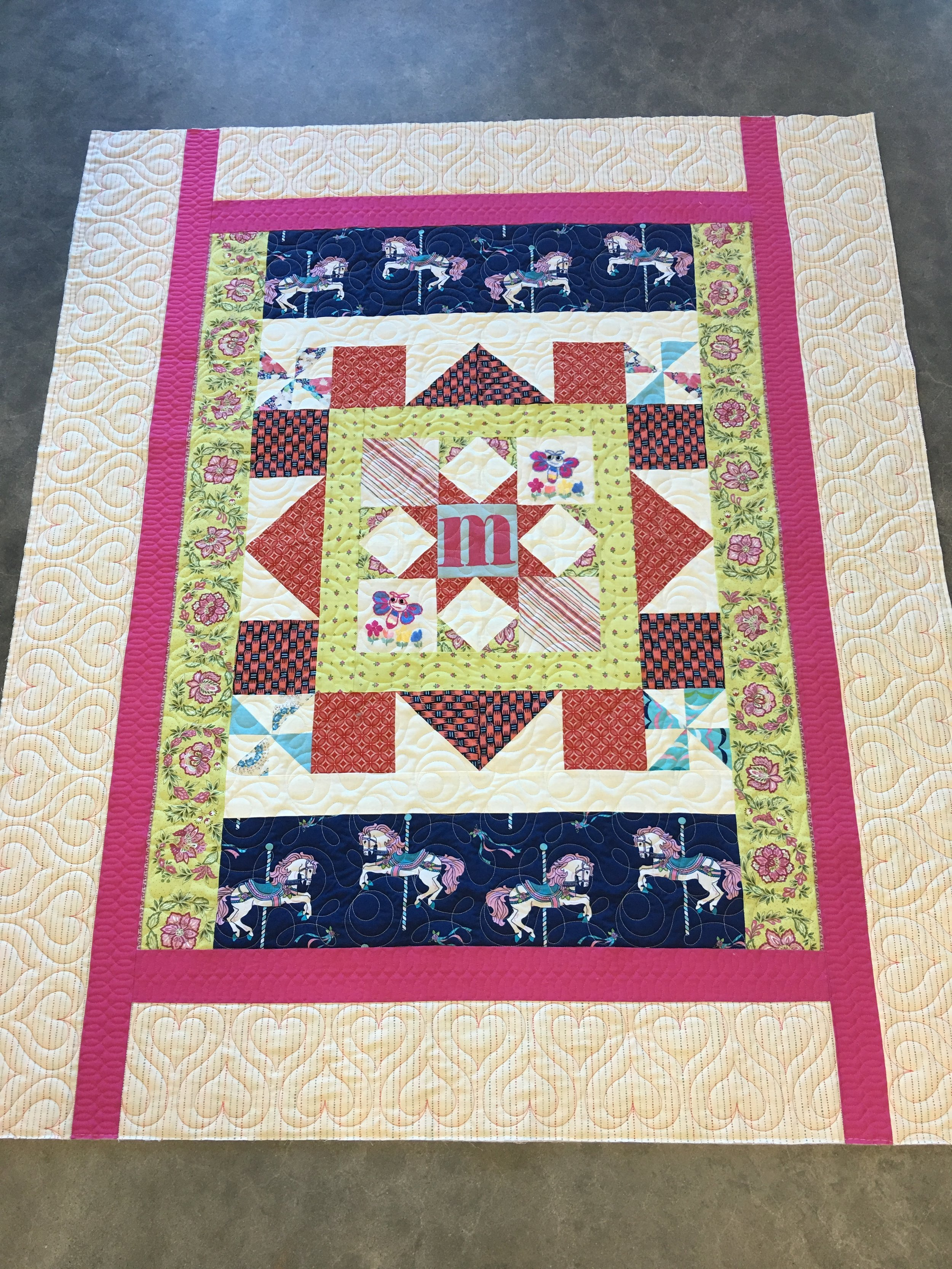 Inside edge-to-edge design with separate border designs