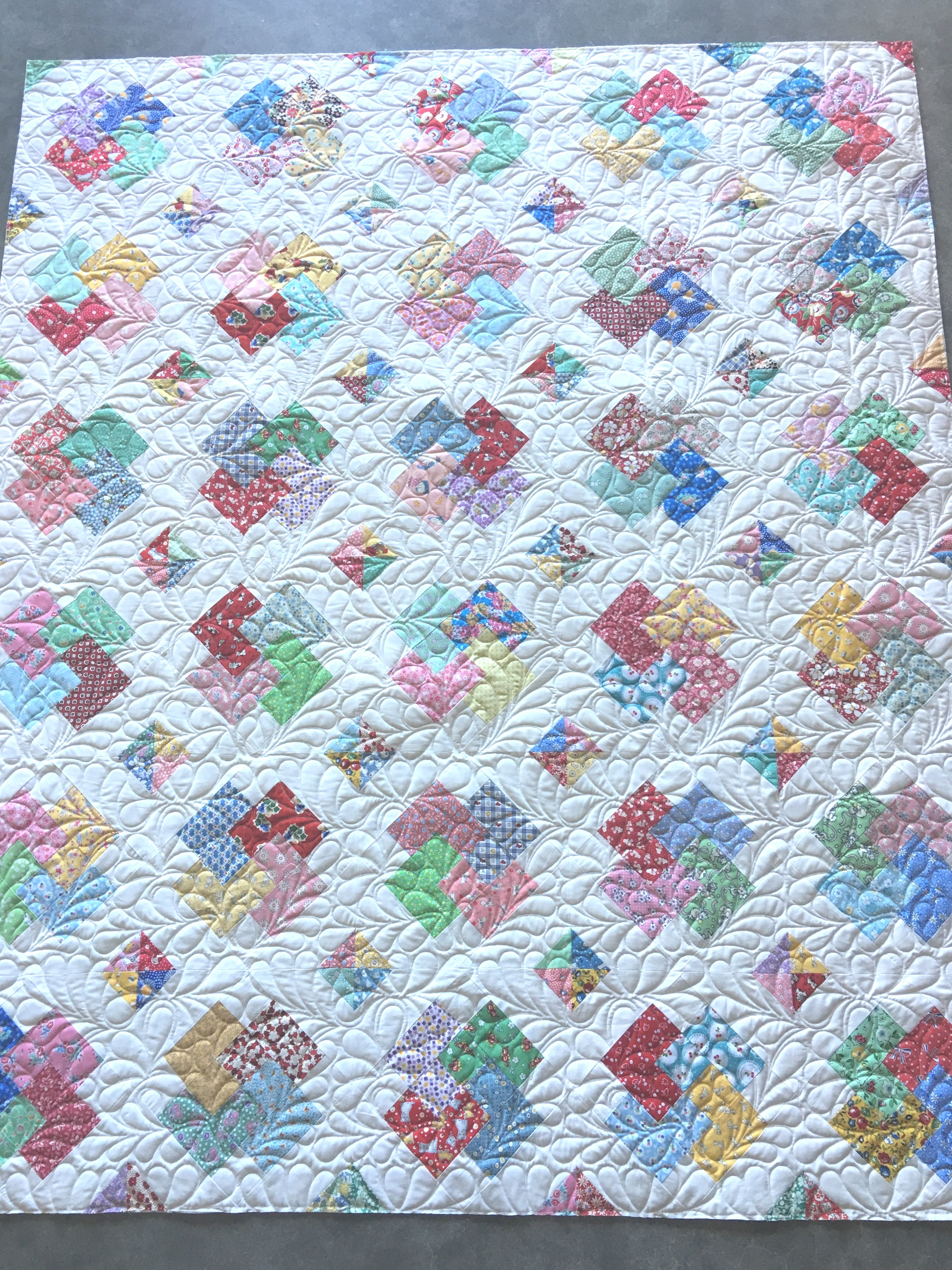 Quilting Design: Feathers