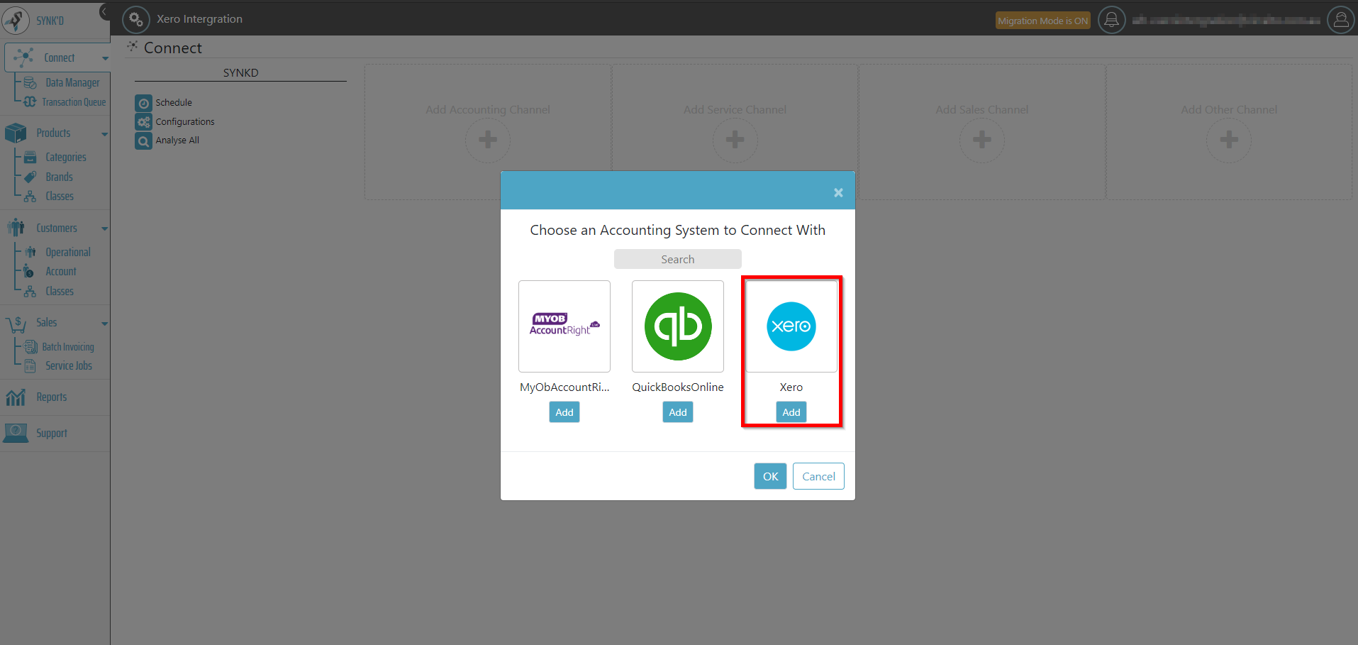 - 3. Select Xero as your accounting software.