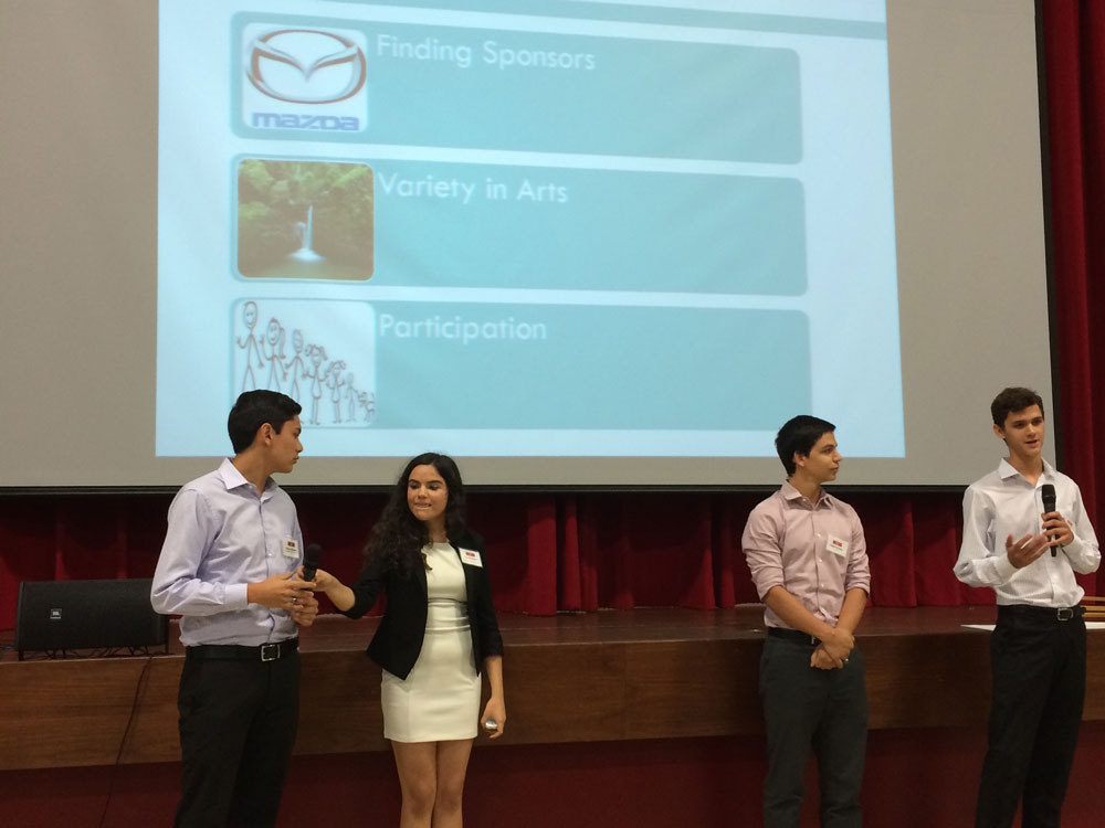 A Group Presents Their Project