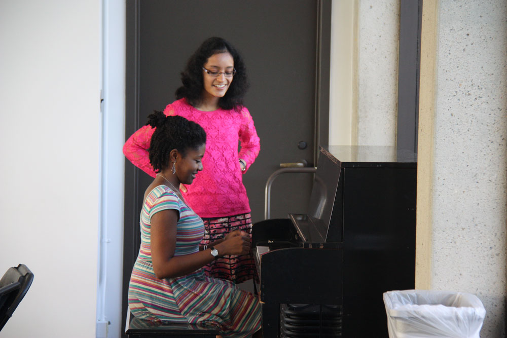 A Student Plays the Piano for Us