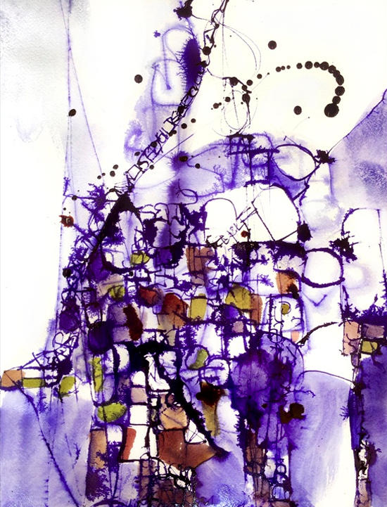 """2.22.2015_B 16"""" x 20"""" Ink on Paper"""
