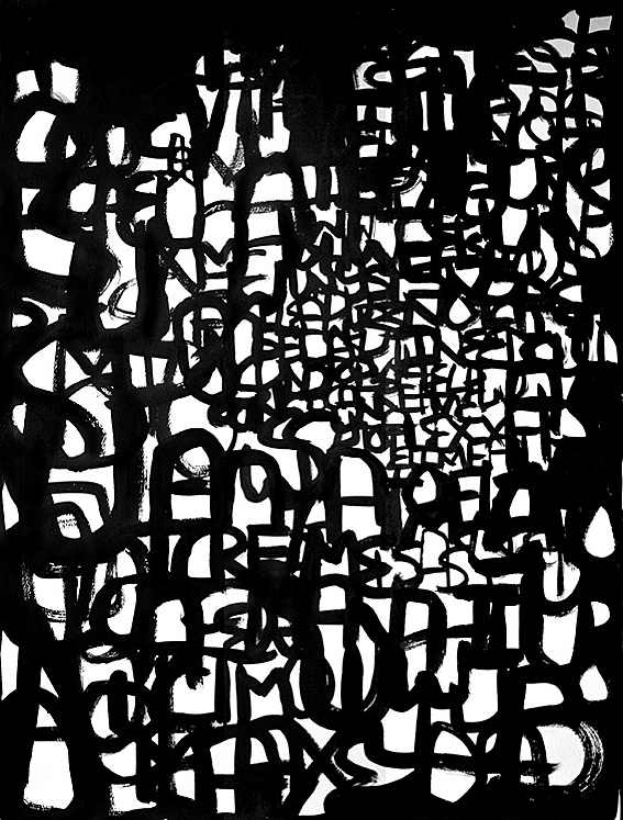 """4.11.2010_B 25.75"""" x 34.6"""" Ink on Paper"""