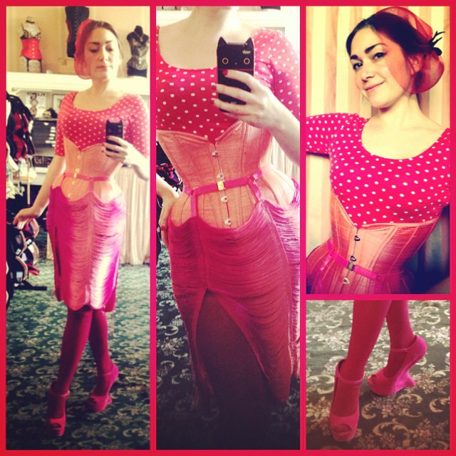 Skirt:  Made by Niki    Corset & Fascinator: Pop Antique   via @popantique on Instagram