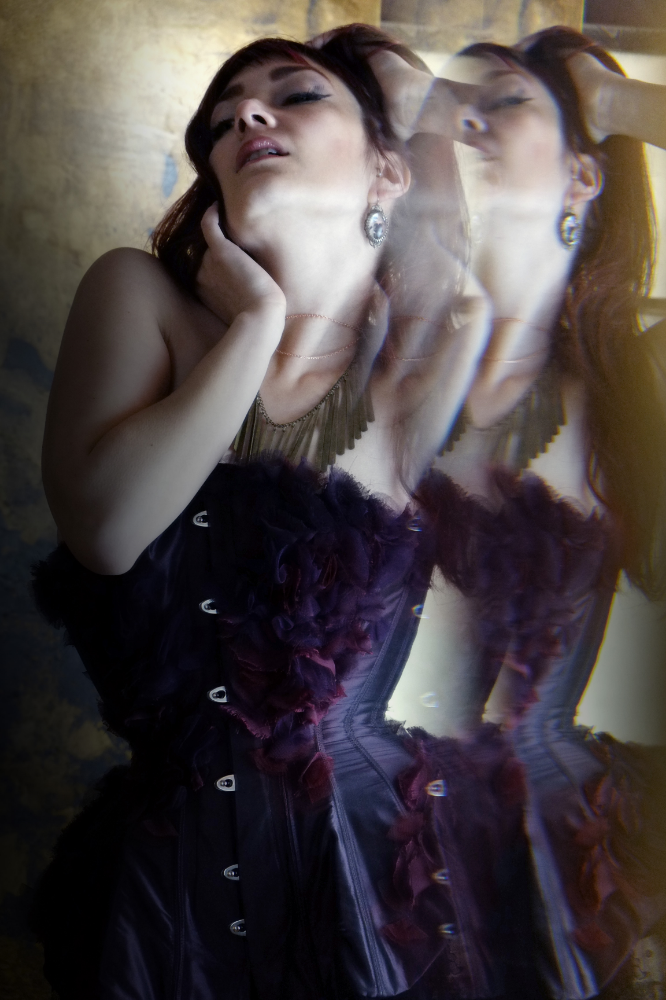 """Corset:  Emiah Couture  """"Shoal""""   Model: Victoria Dagger   Photo © Alycia Hirani"""