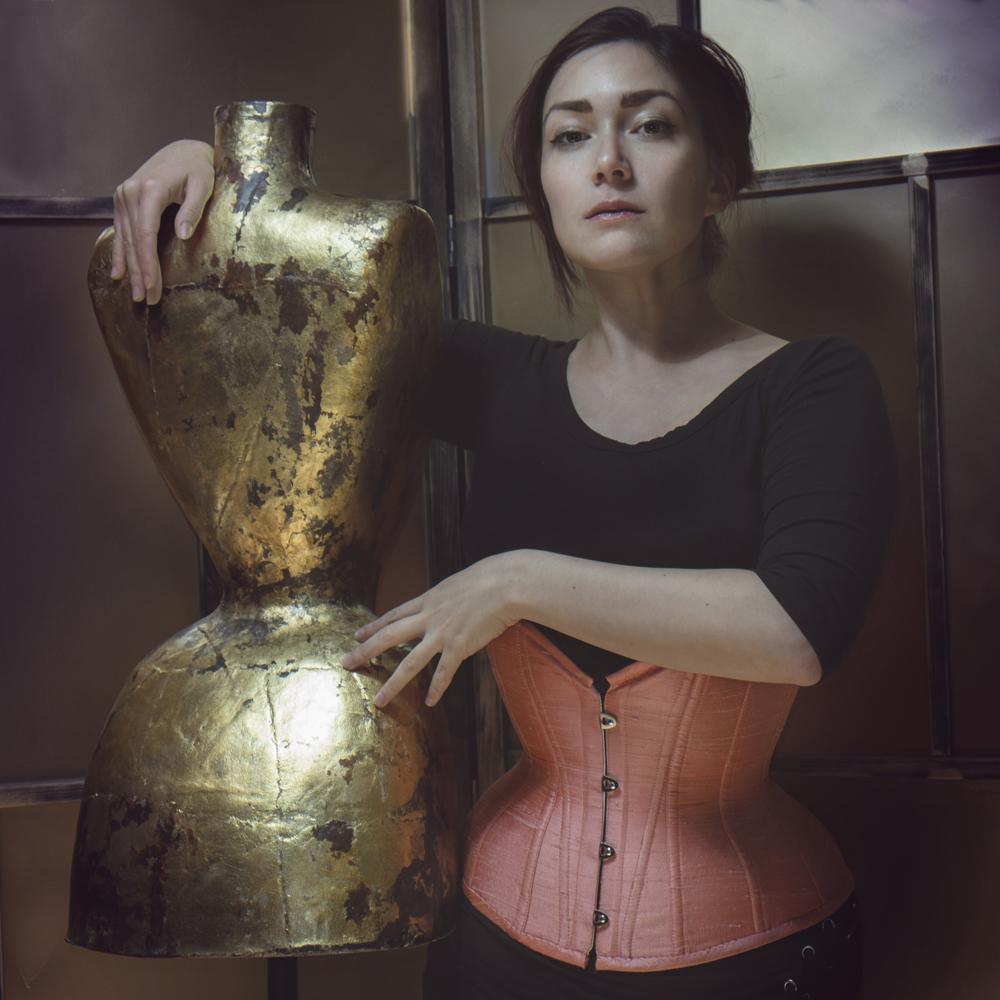 "Corset: Pop Antique ""Sherbet Doll"" | Model: Corsetrix Marianne Faulkner | Photo © Jenni Hampshire"