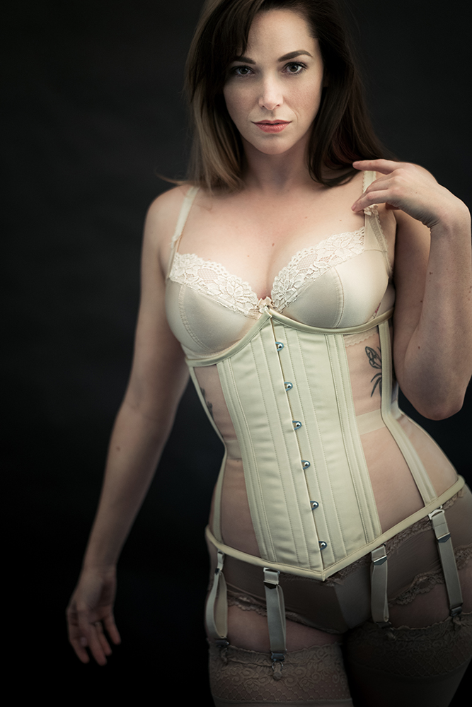 "Corset: Dark Garden "" Naturals Cupid "" in Prosecco Risqué 