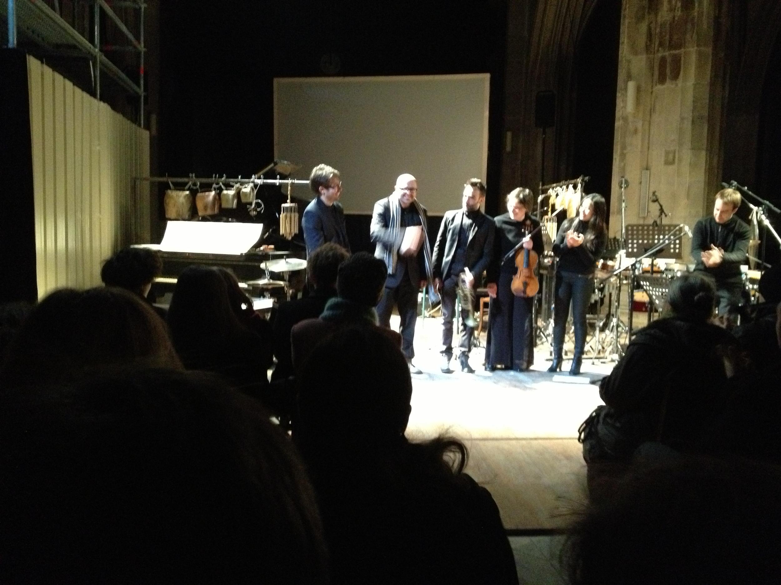 Ricks with Ensemble Links, Premiere of Grenzen der Kontrolle, Paris, 3.15.13