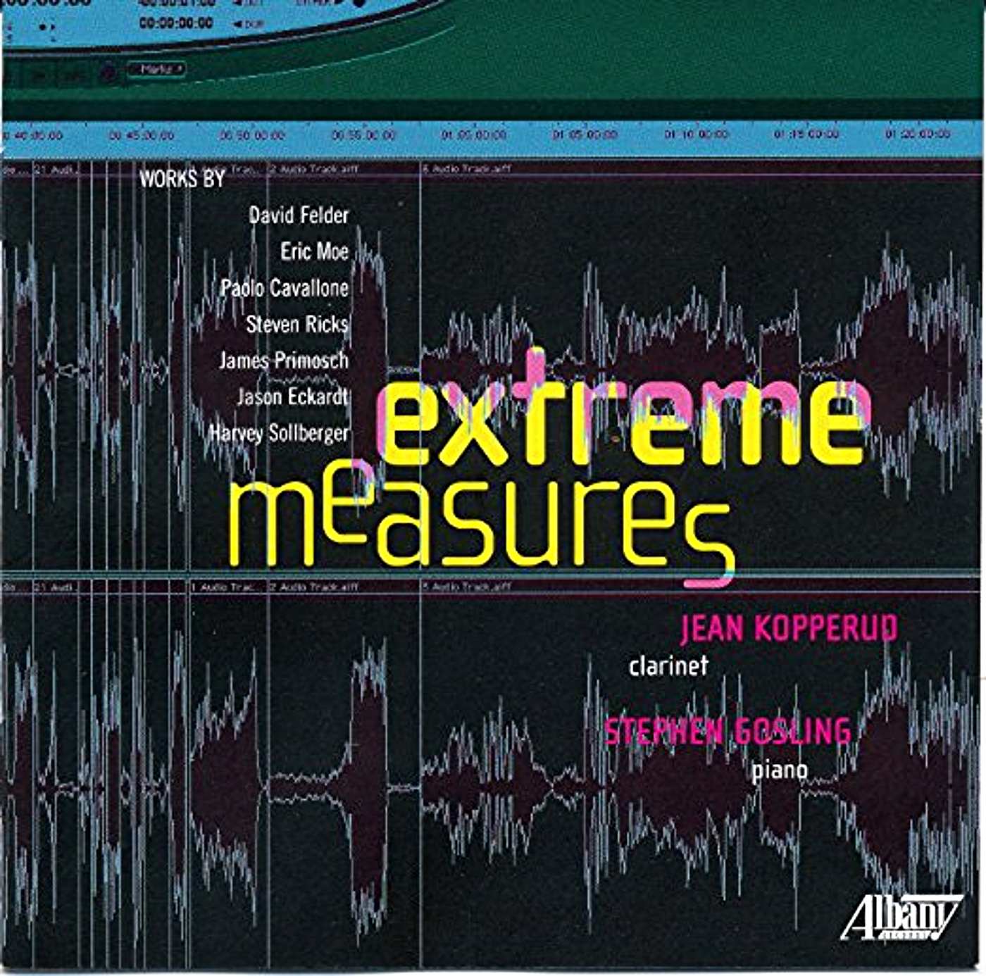 extreme measures - My piece Amygdala (2008), for Bb and bass clarinet, piano, and electronics, appears on this ambitious double-CD by new music pioneer Jean Kopperud and pianist phenom Stephen Gosling. It definitely goes to 11...check it out!
