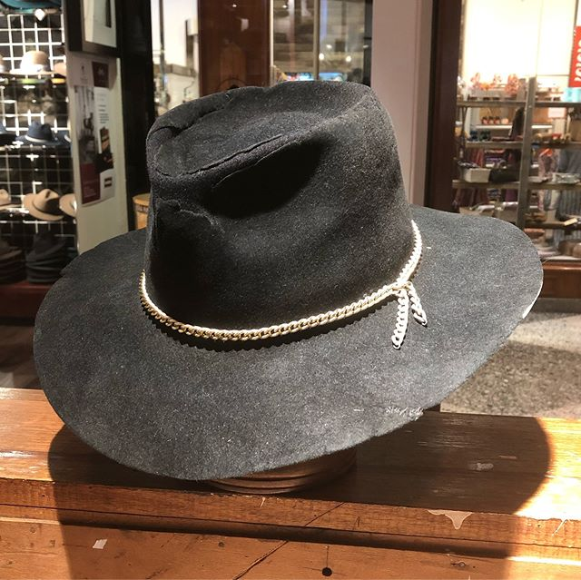 And this is the After shot... It still has a fair bit of character, but hey, it's a hat again.  Not too shabby.  #brisbanehatters #dressedbytess #hatrepairs #backfromthedead #oldakubrasofinstagram