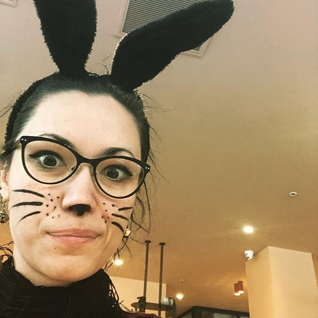 The Easter Bunny is out and about today... I wonder where she's hopped to?  #easterhunt #blackbunny #happybirthdaymumihopeyoulikethesurprise!!