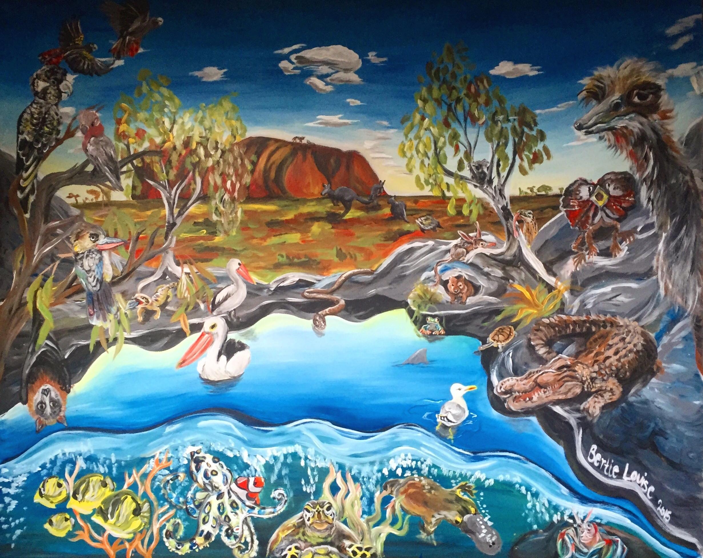 Cubby house mural