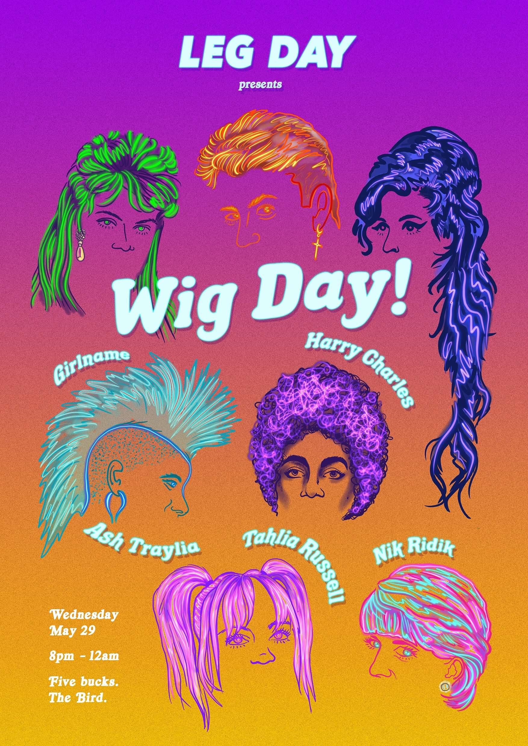 Artwork for Event poster- Leg Day