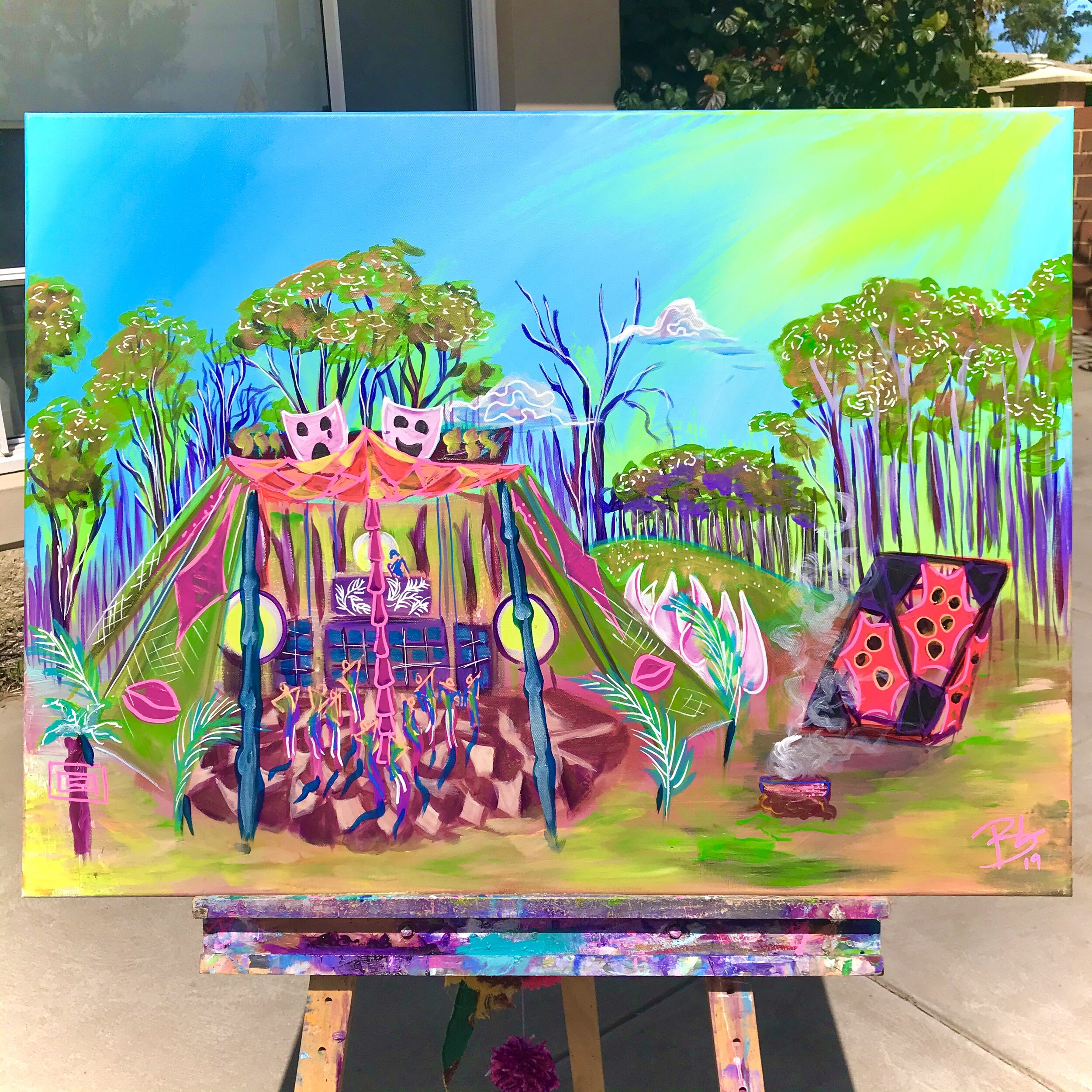 Live painting of Blossom festival