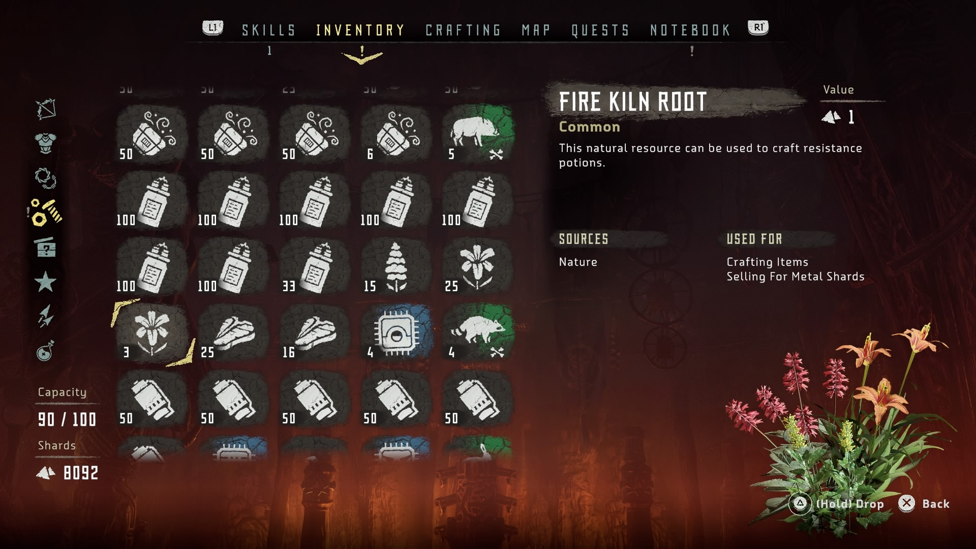 Horizon Zero Dawn's Inventory System needs some getting used to.