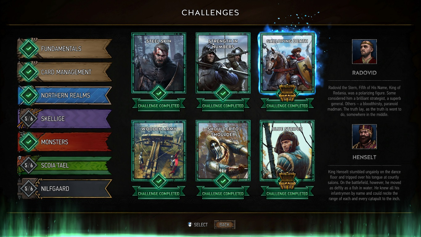 Once you finish all of the challenges, you are all set to tackle online opponents and have an idea on what decks you would like to play.