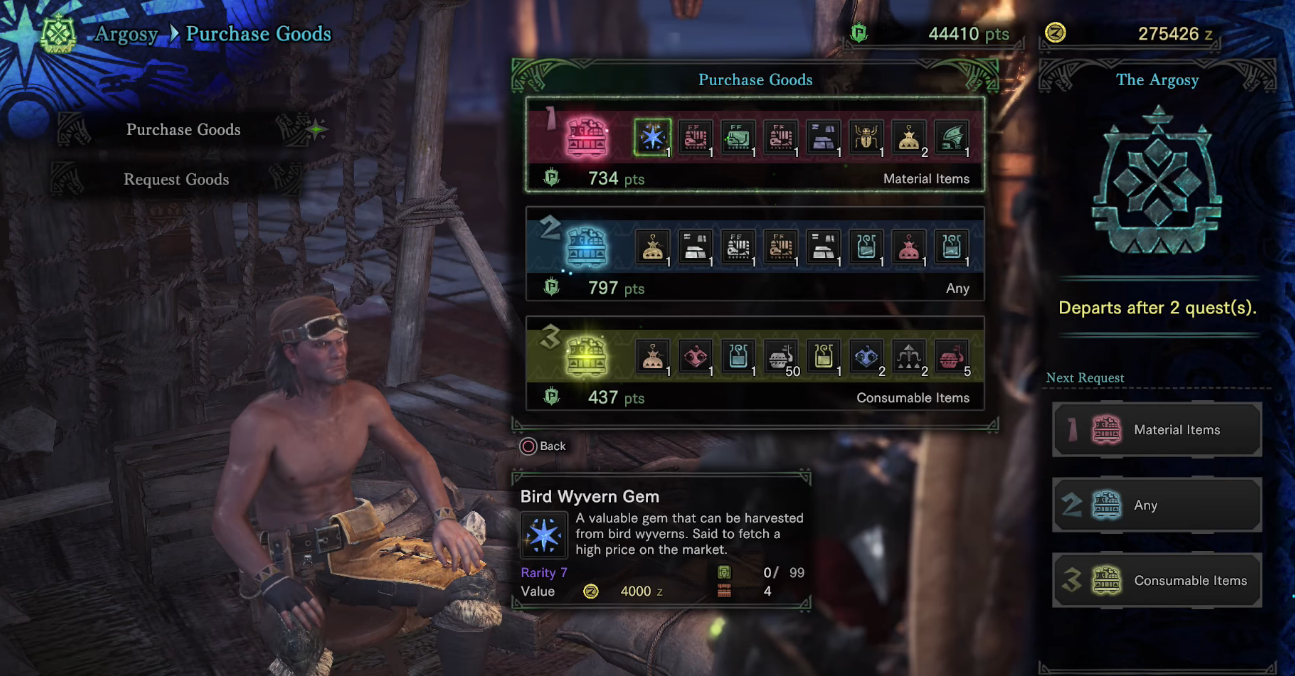 Argosy has proven to be a good place to dump your Research points for more items and consumables.