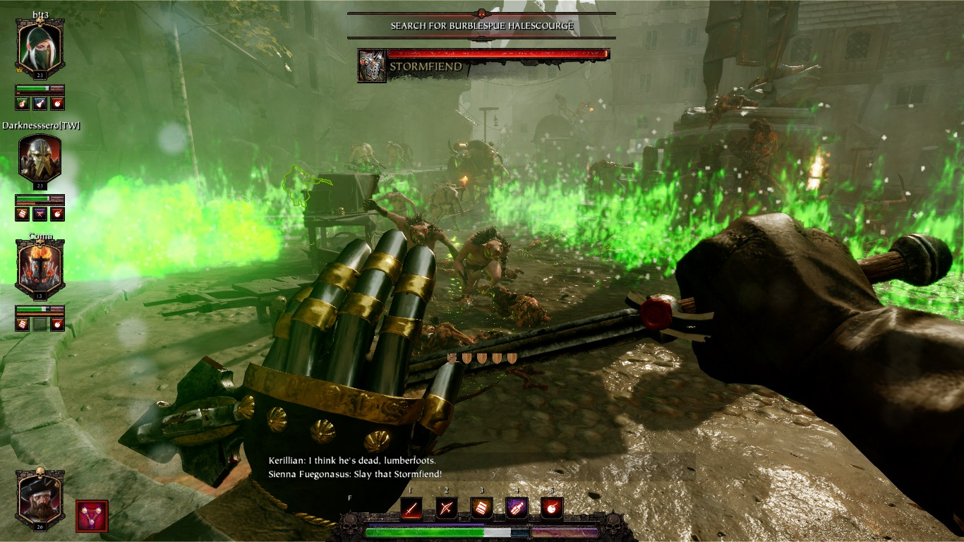 Choke points are your best friend when you trigger a swarm of Rotbloods/Skaven.