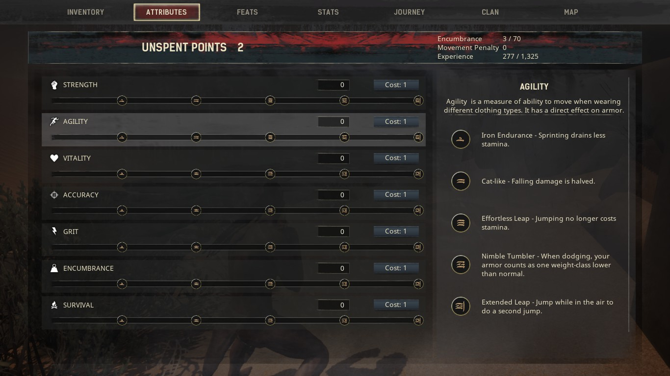 Every tier in one attribute gives a passive skill, so you'll have to decide where you want your character to focus on.