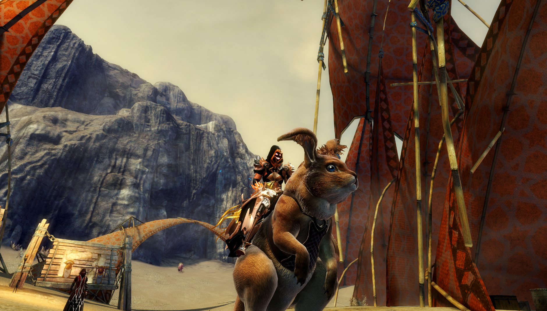 Just one of the many mounts available thanks to the Path of Fire expansion.