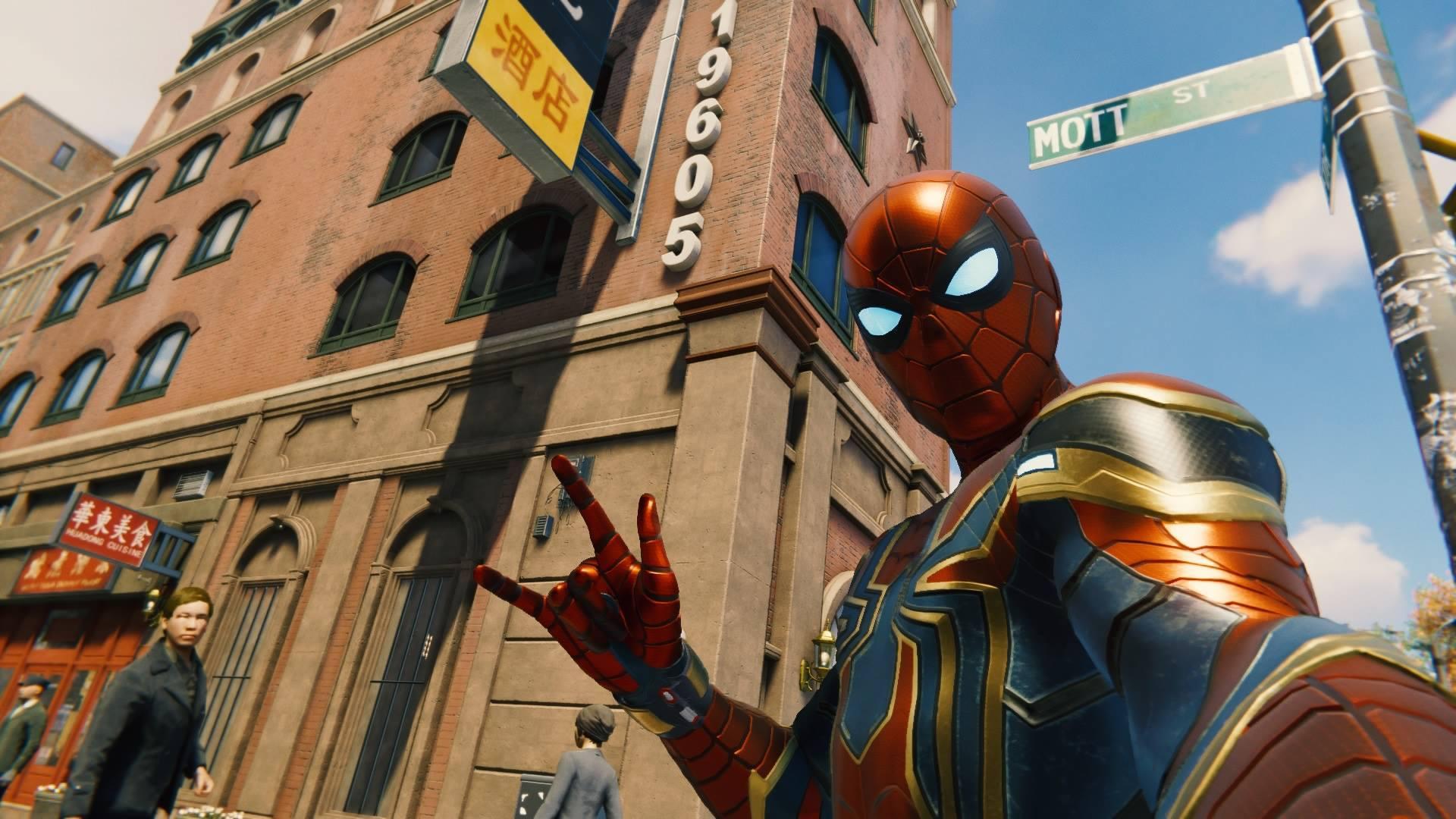 Spider-Man selfie.