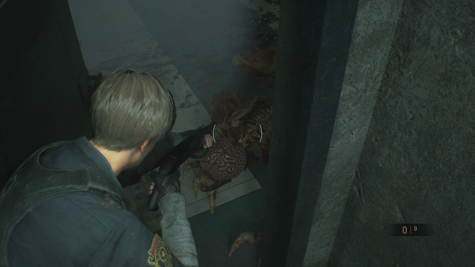 Resident Evil 2 Leon and Licker.