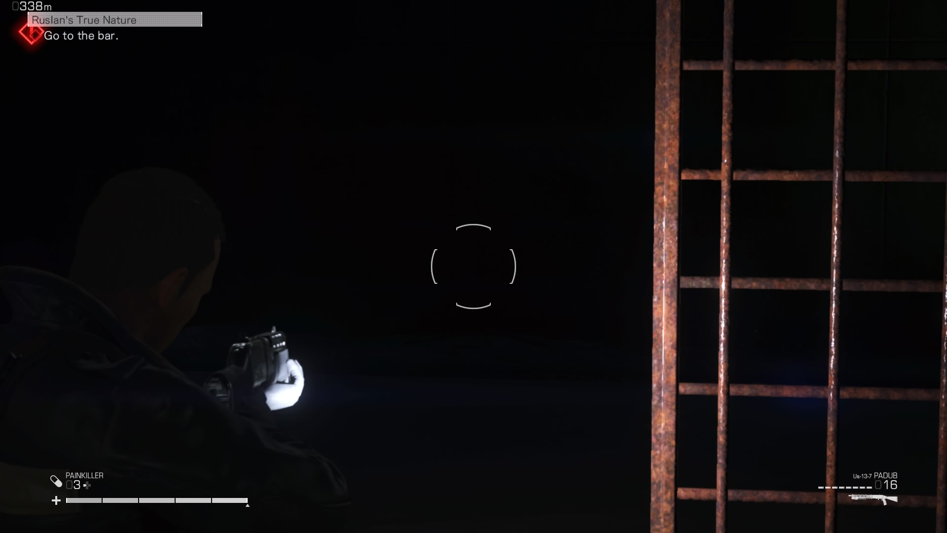 The game has an unusual lighting problem. And the flashlight attached to your character doesn't cut it as a light source.