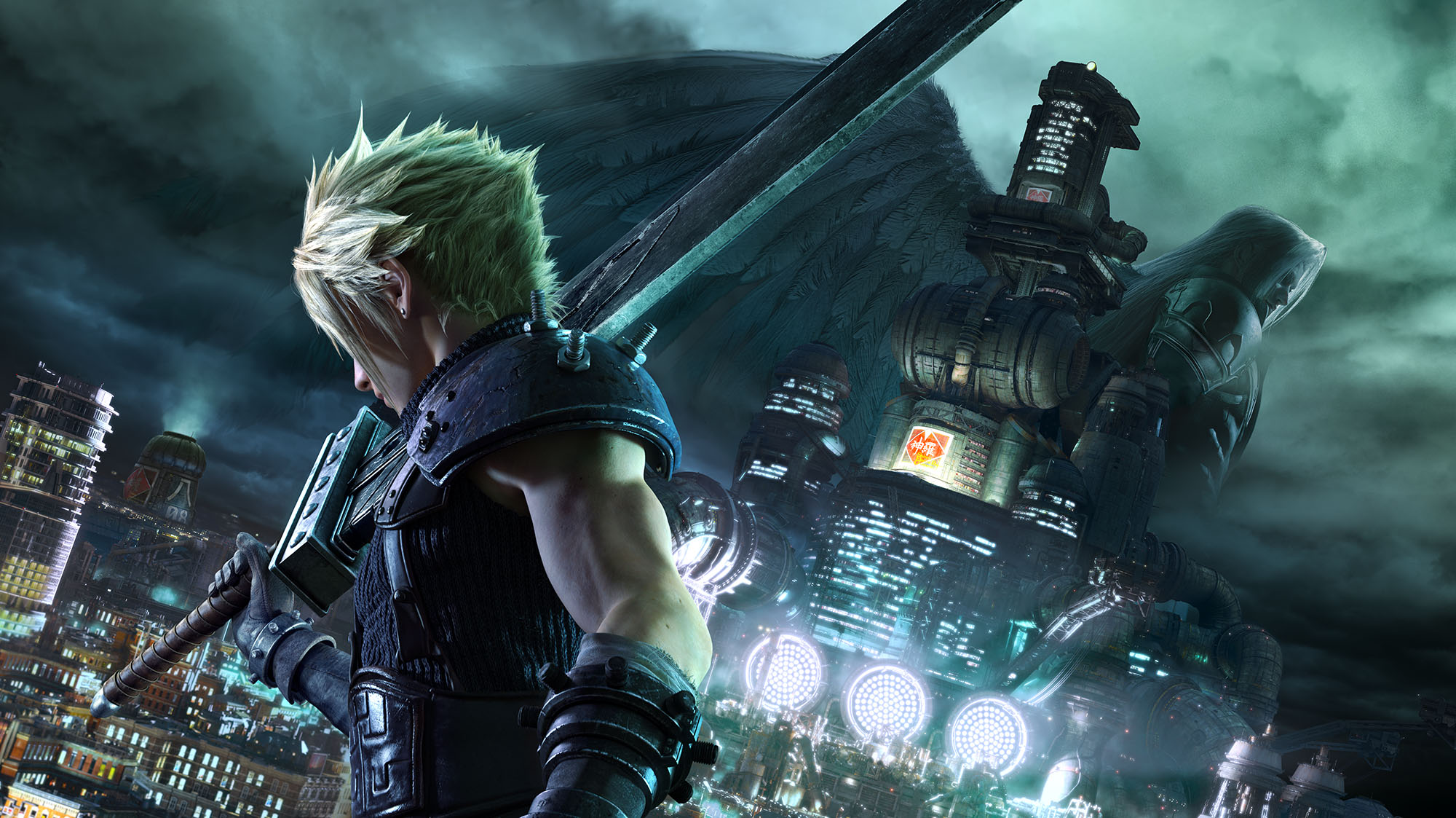 Final Fantasy 7 Remake Cloud and Sephiroth