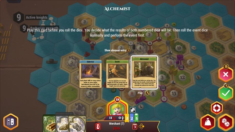 Catan Switch 2019 gameplay