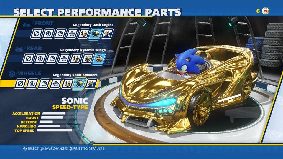 Team Sonic Racing customization