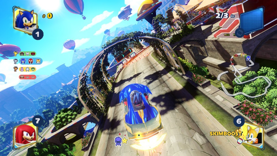 Team Sonic Racing gameplay Sonic