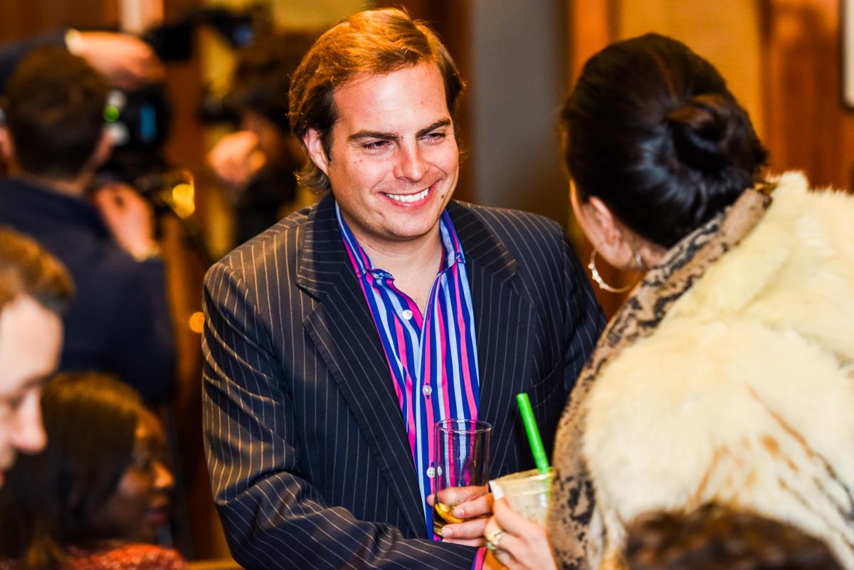 Mark Homer greets a PPN delegate