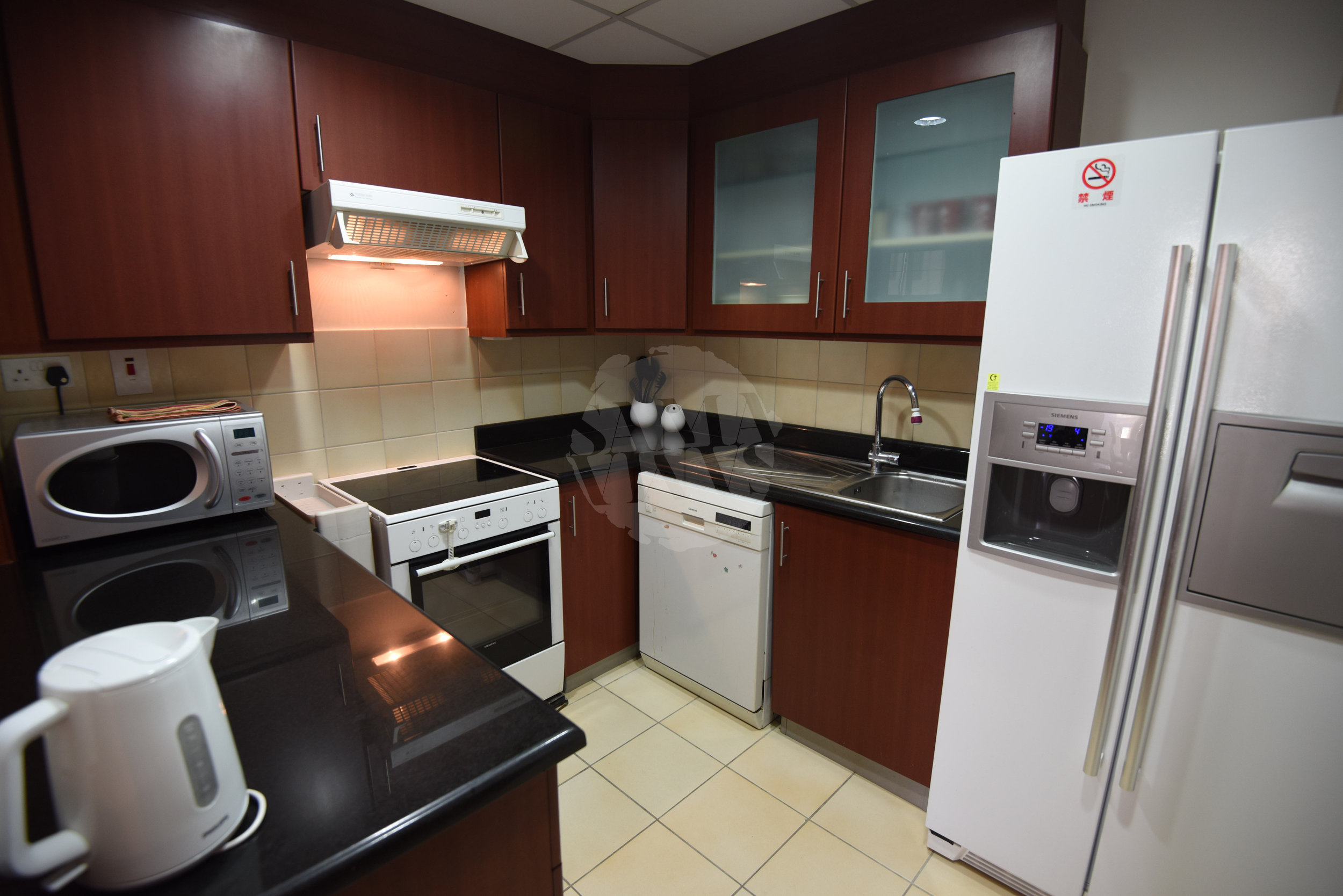 The kitchen has everything you need to make yourself at home including a dishwasher, microwave, fridge-freezer, and all the basic cutlery, crockery and cooking equipment
