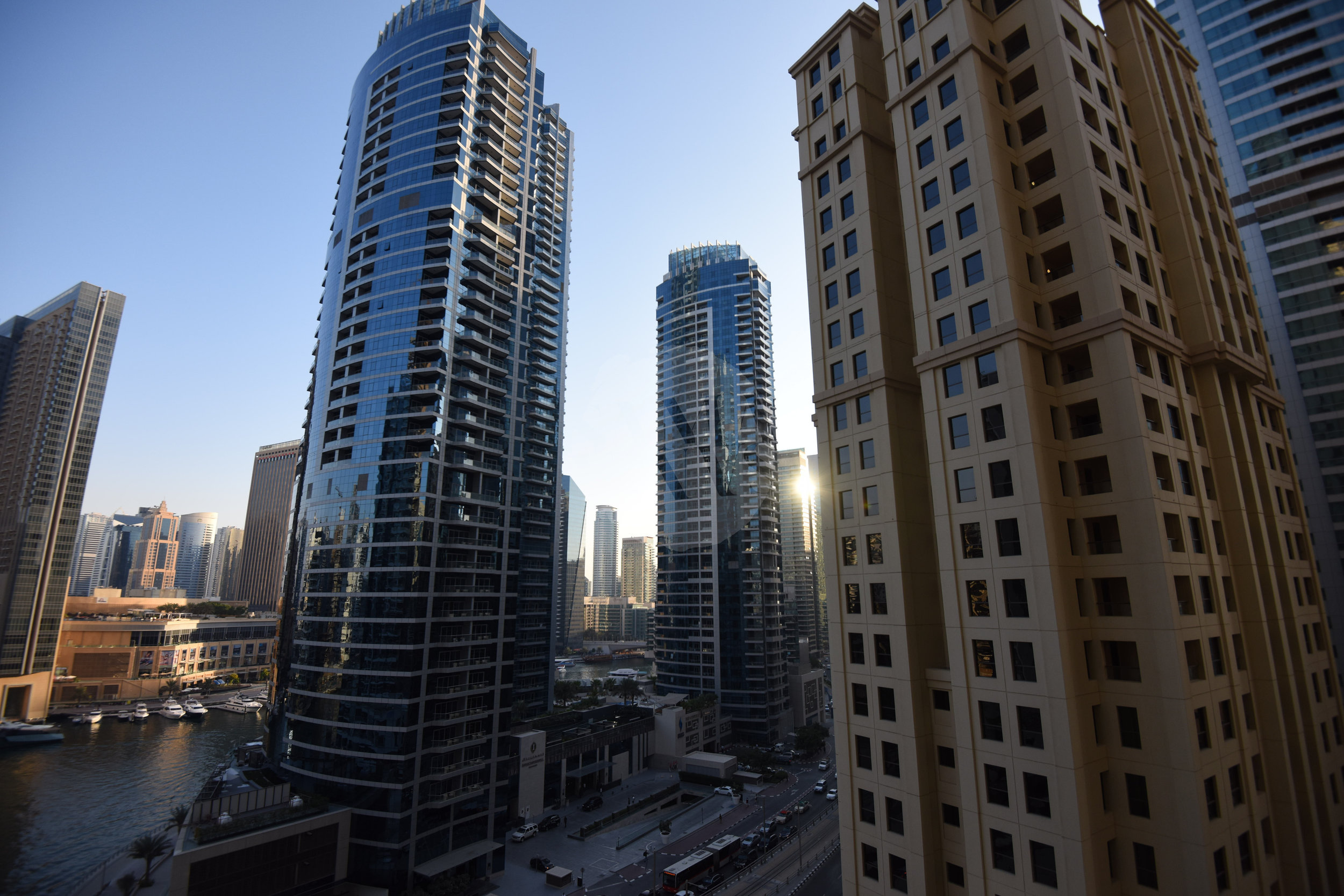The views of Dubai Marina from the apartment are incredible, and you are only a five minute walk from the beach