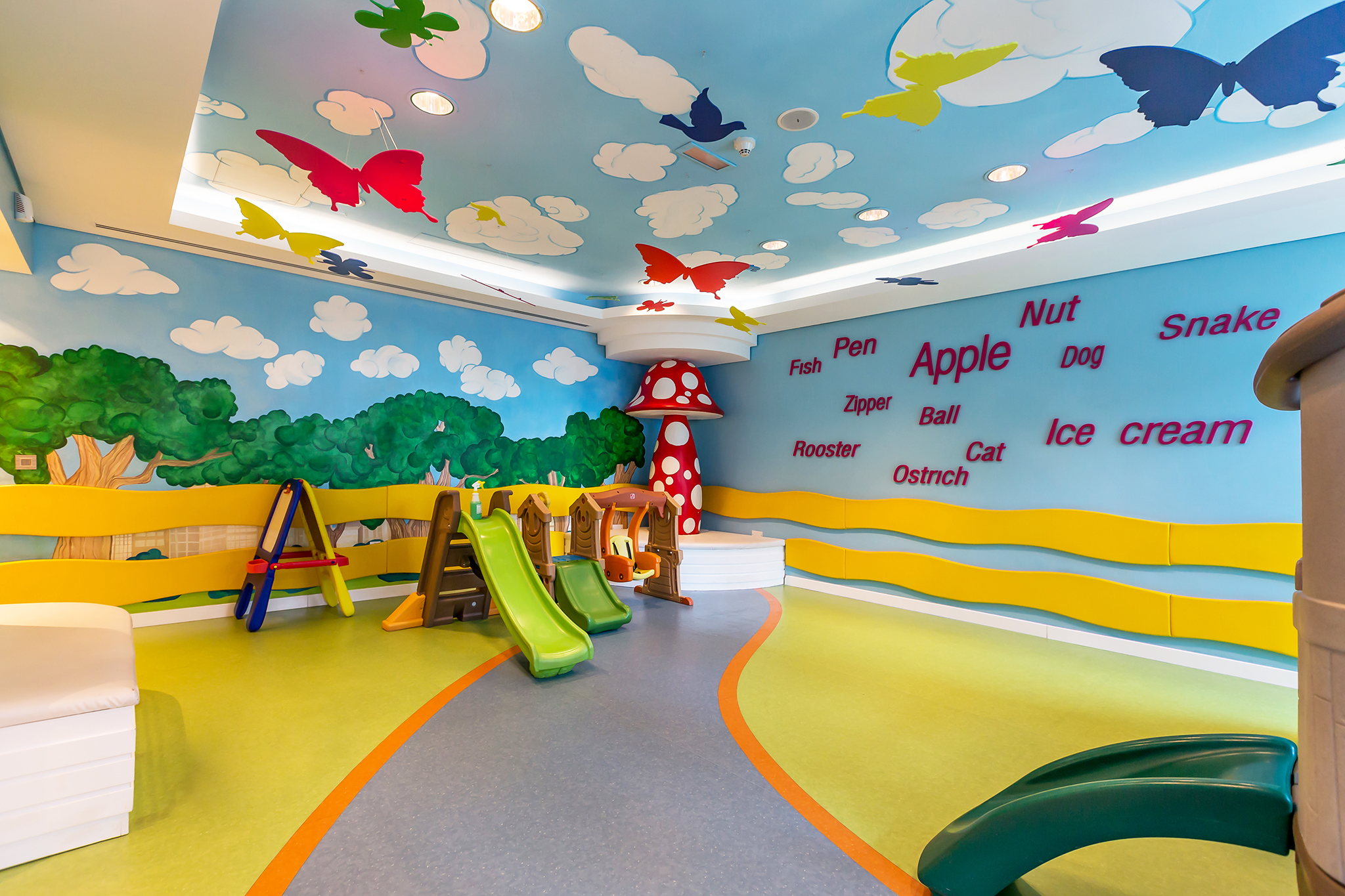 The children play area has a selection of activities to keep the little ones entertained