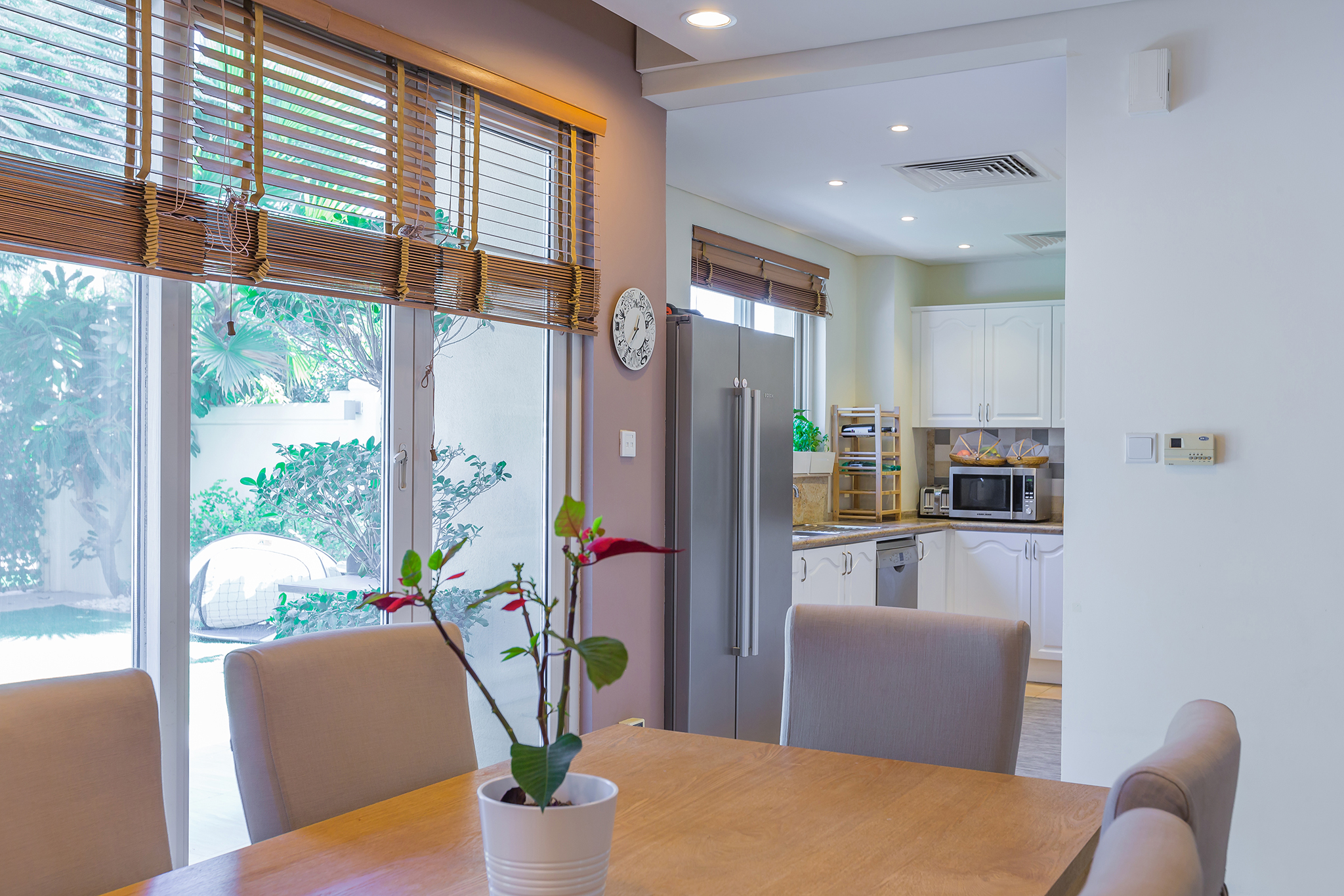 Spacious, stylish open plan living-dining area