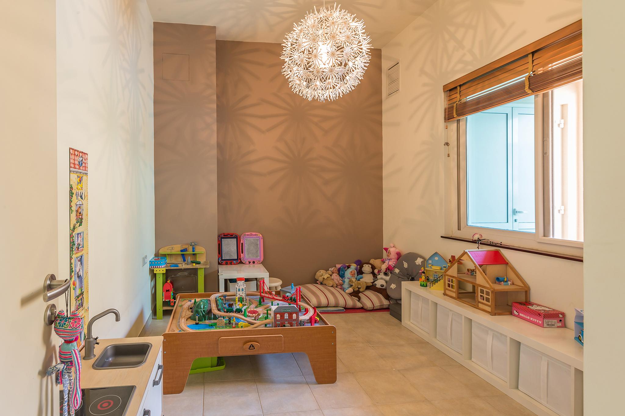 Kids will enjoy in this children's playroom