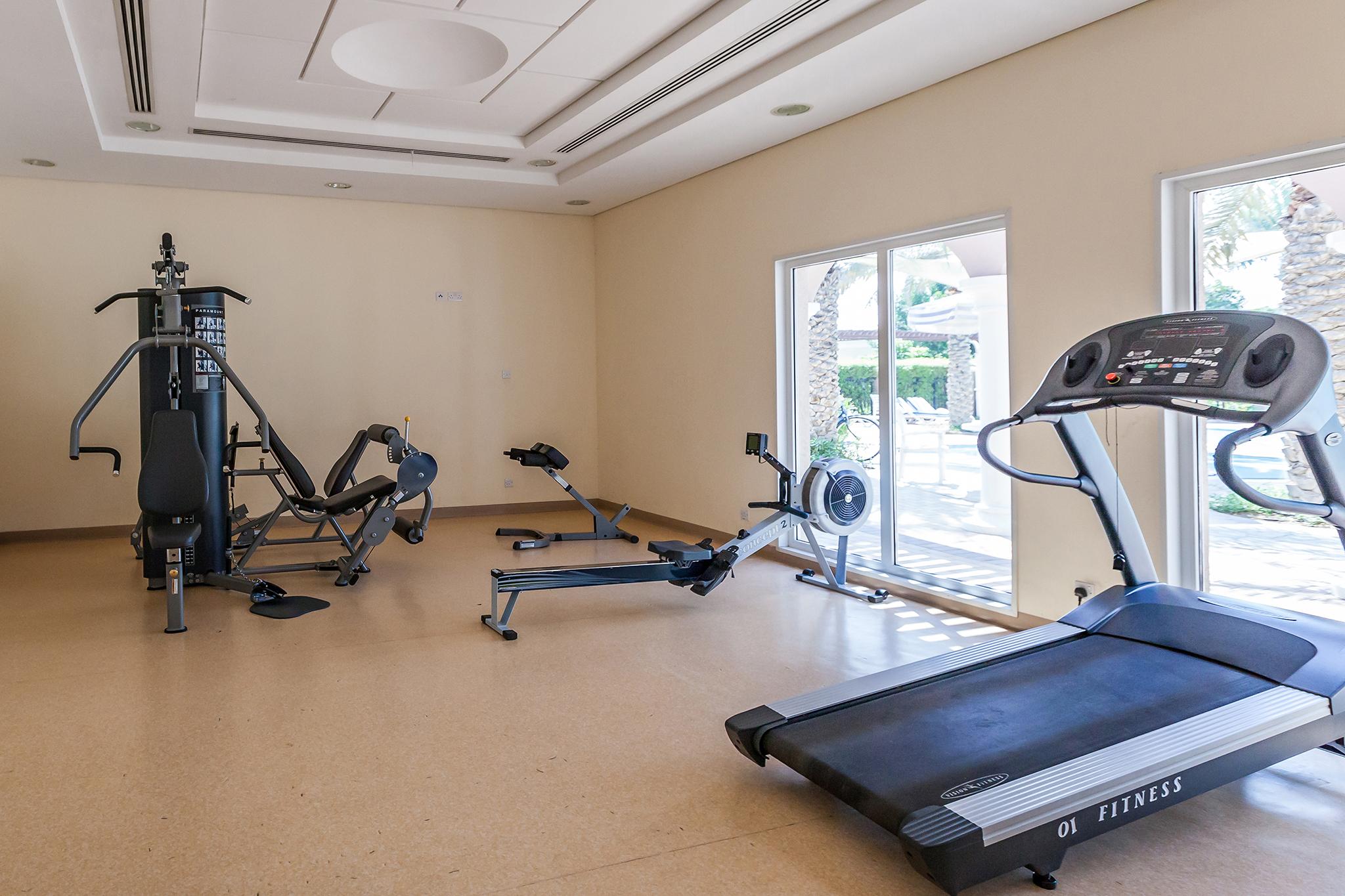 Gym near the pool