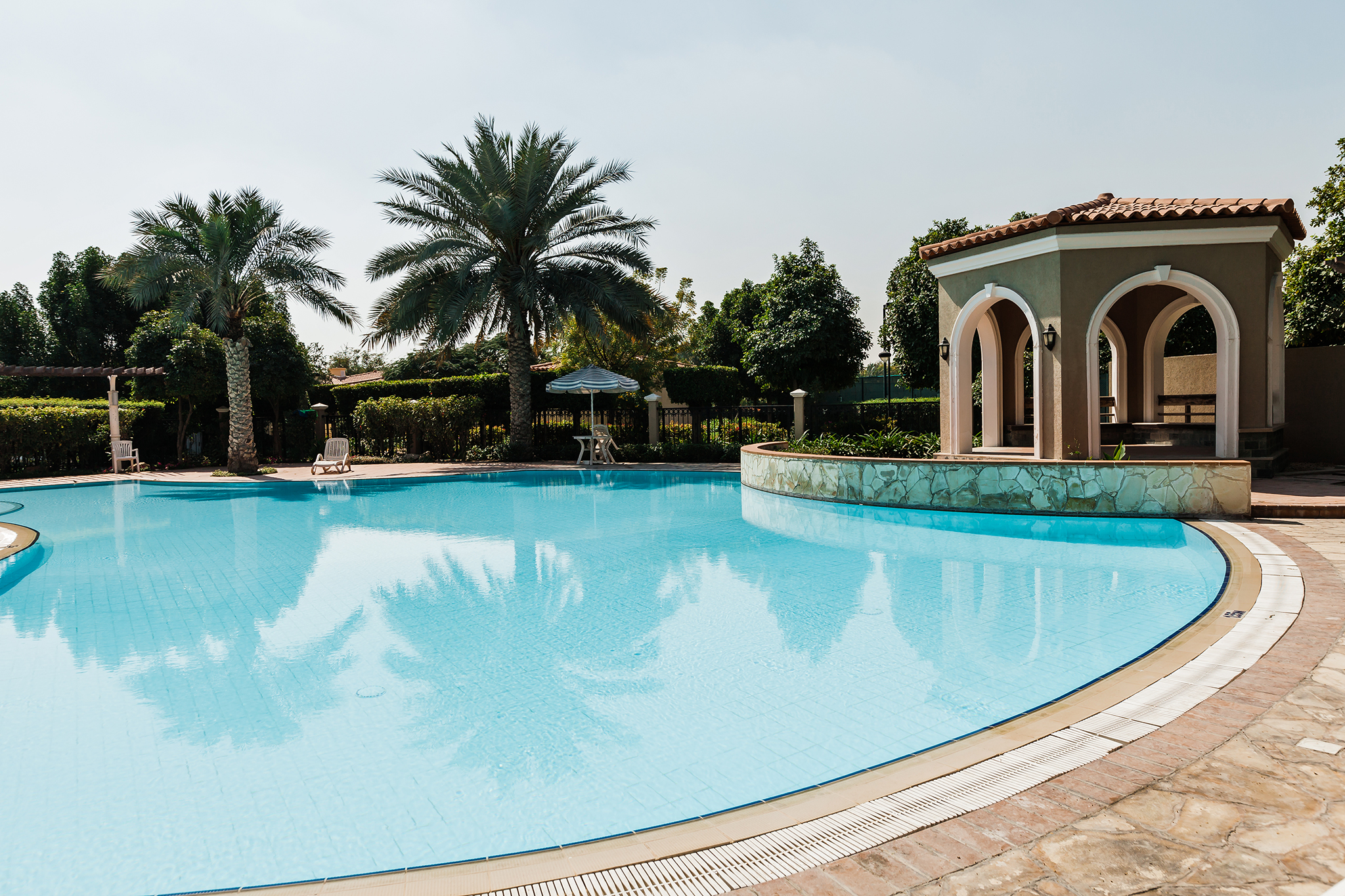 Swimming pool, 2 minutes away from the villa