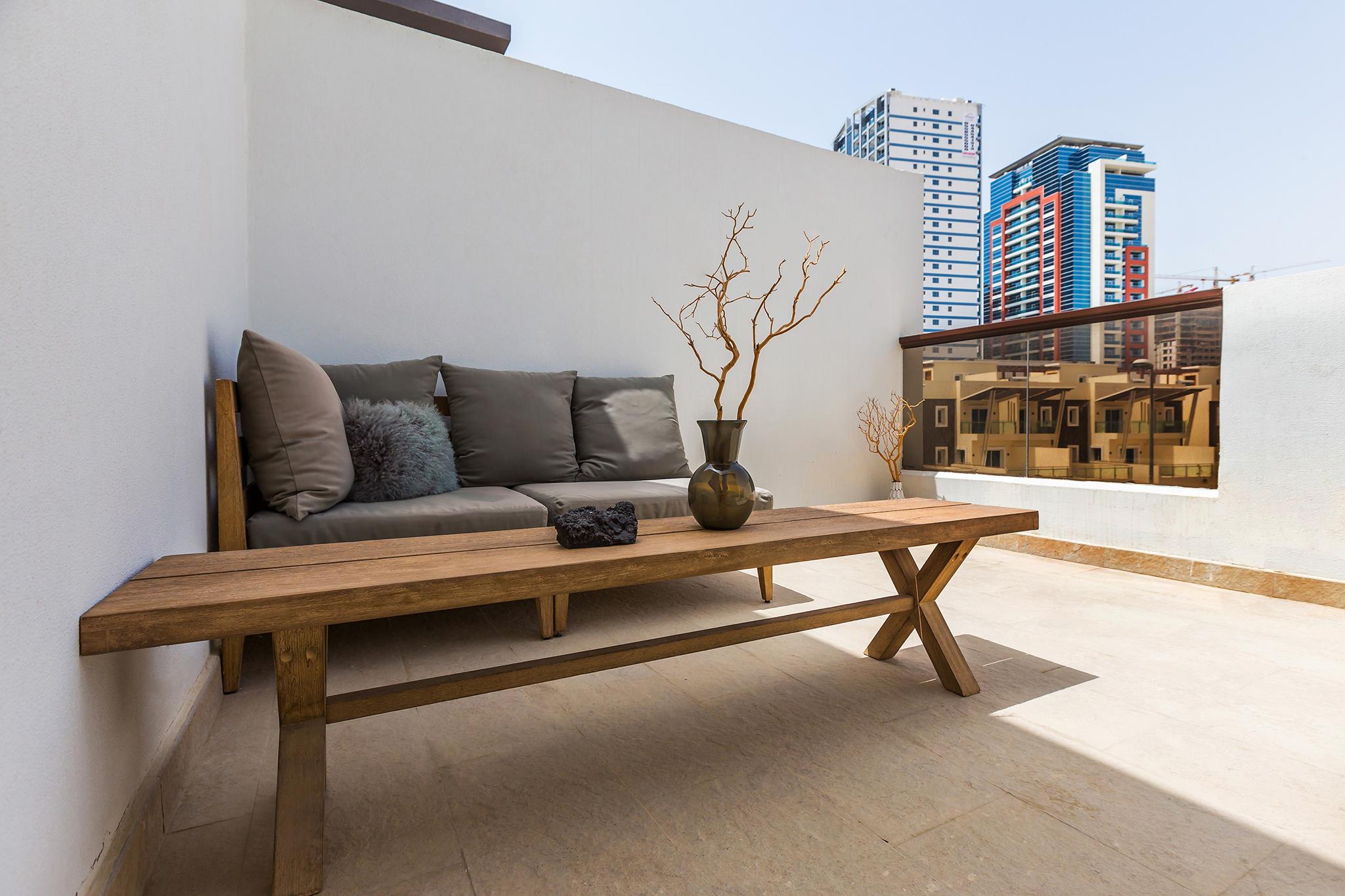 Humongous balcony for each bedroom!