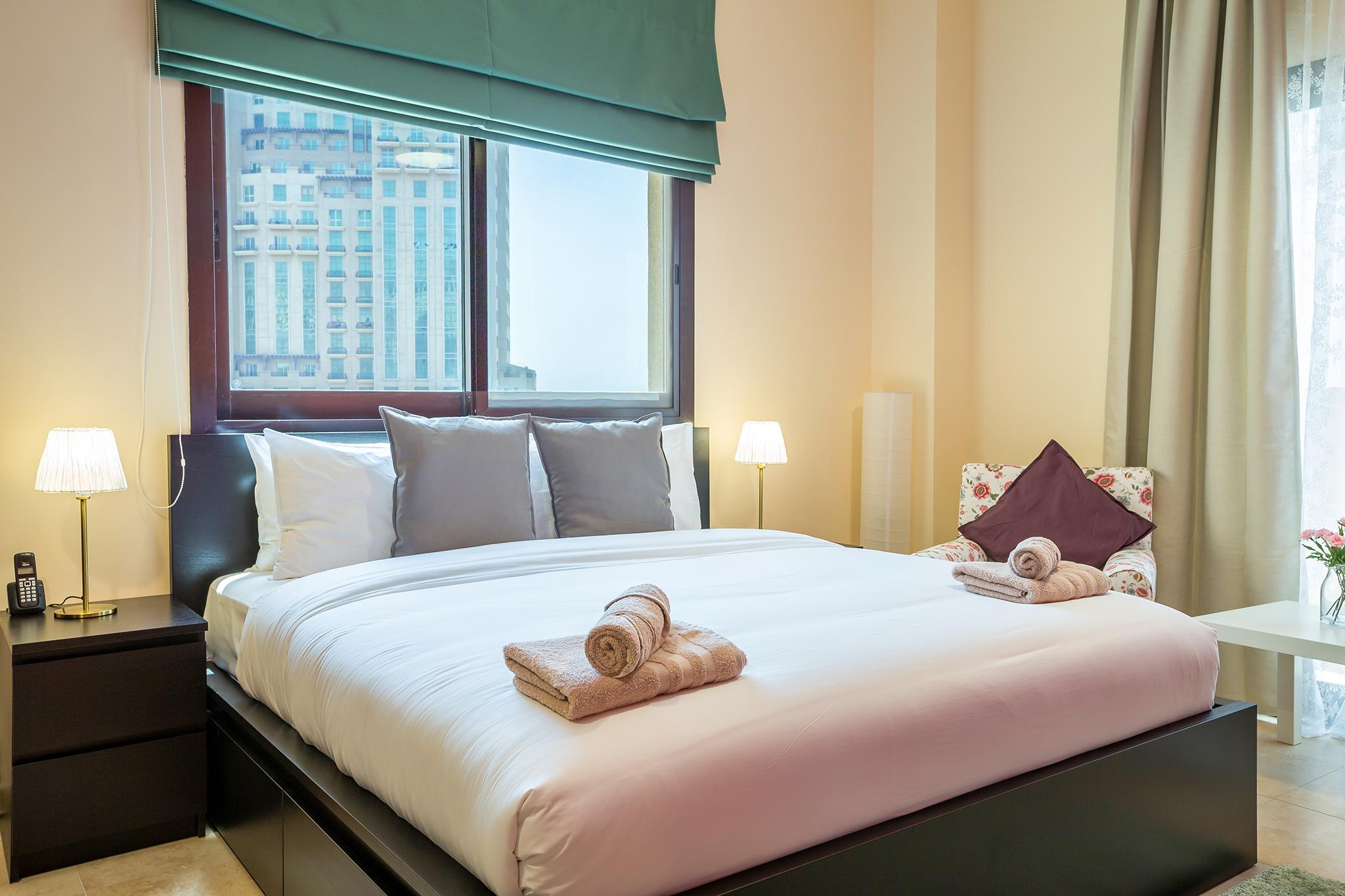 Comfy bed, guaranteed for a good night's sleep