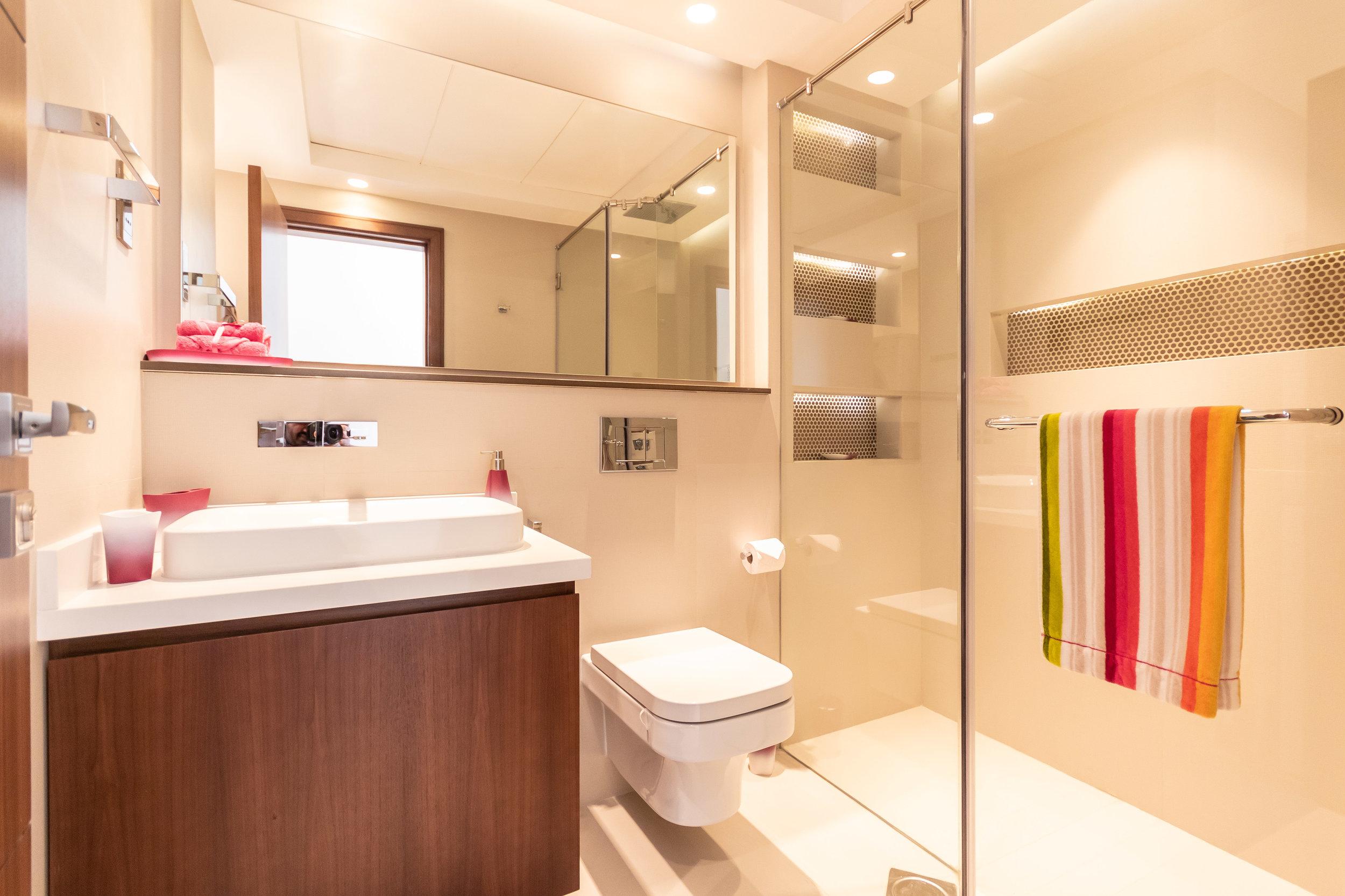 Second bathroom, with contemporary design