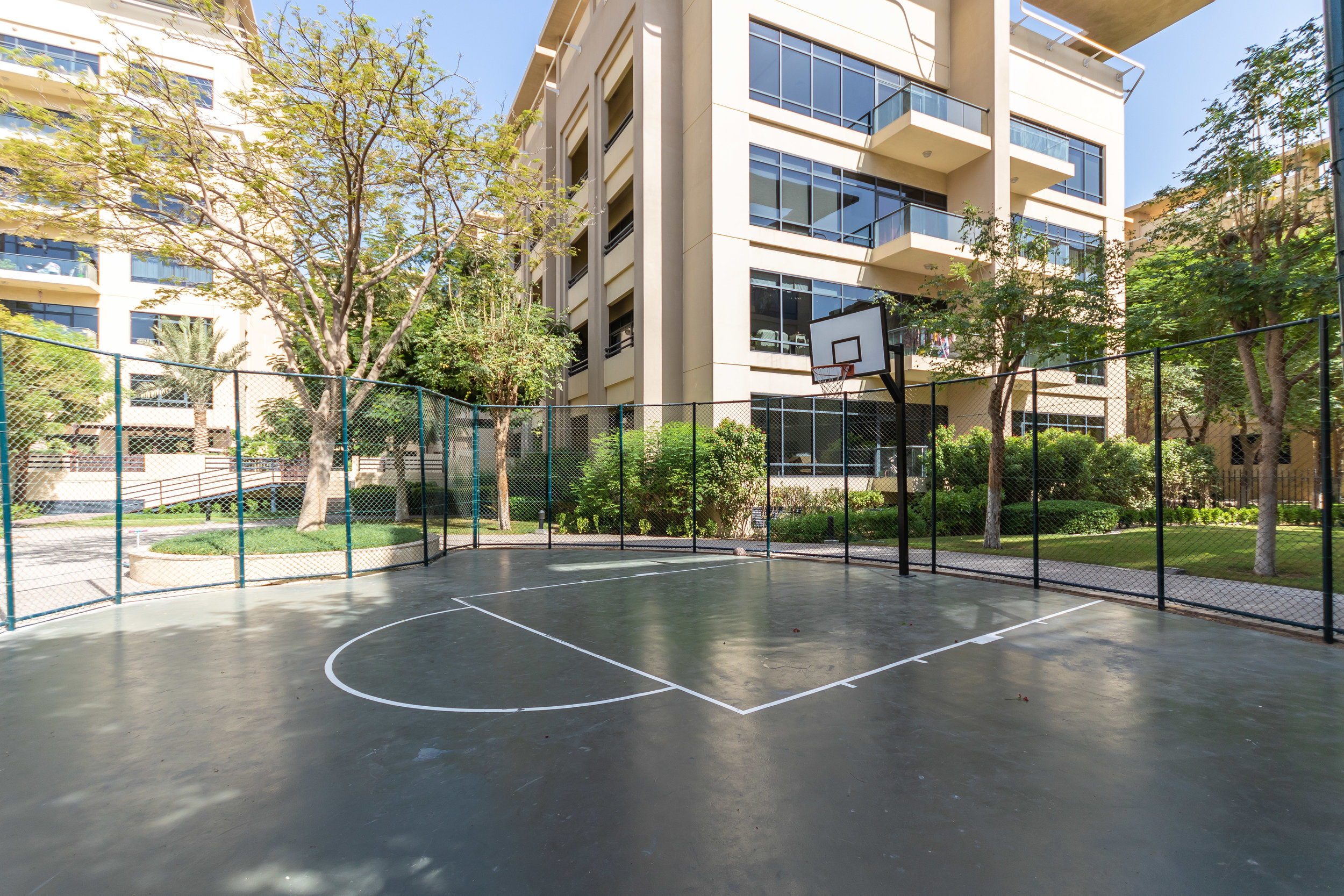 Basketball court to relax and play